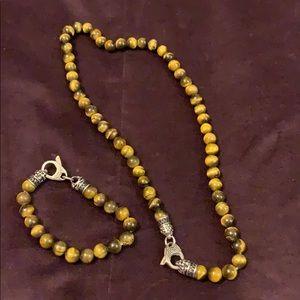 Other - Tiger's eye necklace and bracelet set